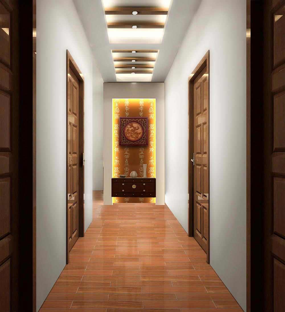极致优雅古典中式风格过道设计欣赏