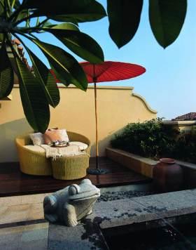 浪漫东南亚风情舒适室外休闲阳台设计