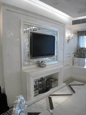 温馨白色浪漫简欧风格电视背景墙设计