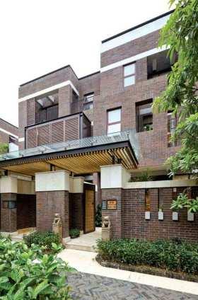 清爽华丽东南亚风格别墅门厅设计