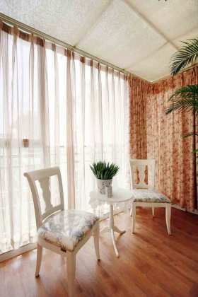 温馨浪漫田园风格客厅休闲区展示设计