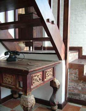 精美中式古典风格楼梯局部展示