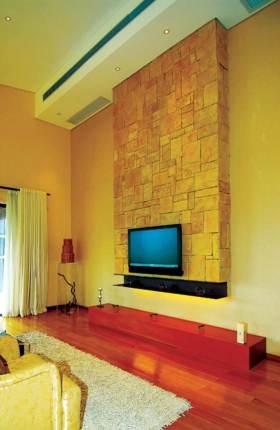 雅丽东南亚风格客厅电视背景墙装修