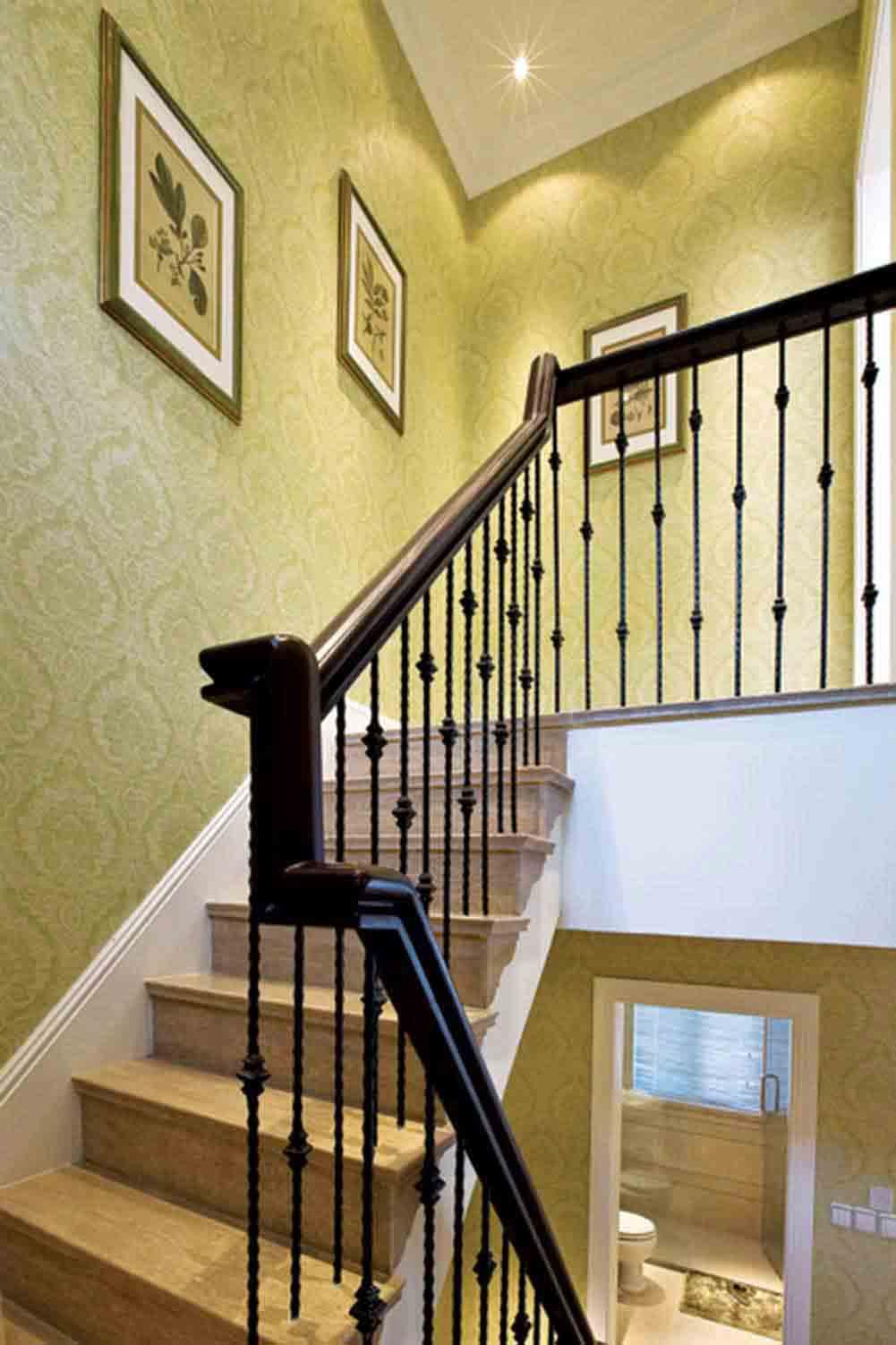 黄色雅致欧式简约风格楼梯装修
