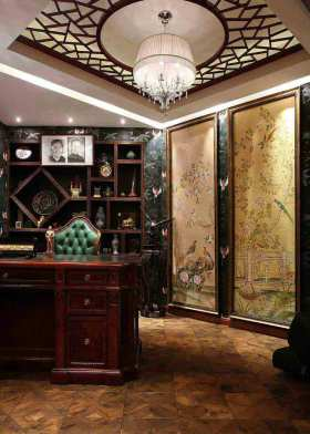 雅韵中式典雅书房装修布置