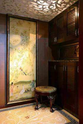 精致华美中式复古收纳空间设计展示