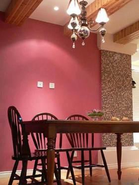 粉色浪漫简欧风格餐厅局部设计展示