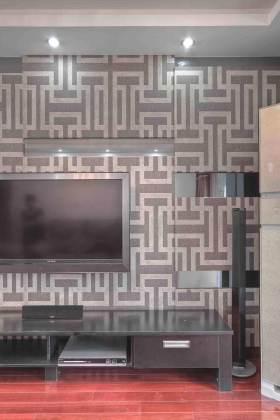 精致复古图案现代设计电视背景墙装潢