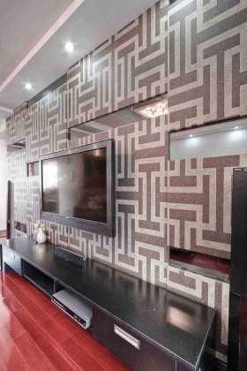 复古雅致现代风格电视背景墙装潢