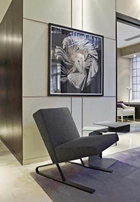 灰色时尚感现代简约风格休闲沙发设计