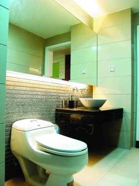 绿色清爽现代风格卫生间装修设计