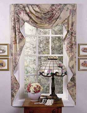 欧式复古风格窗帘设计展示