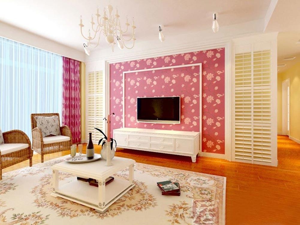 粉色甜美欧式风格客厅装修欣赏
