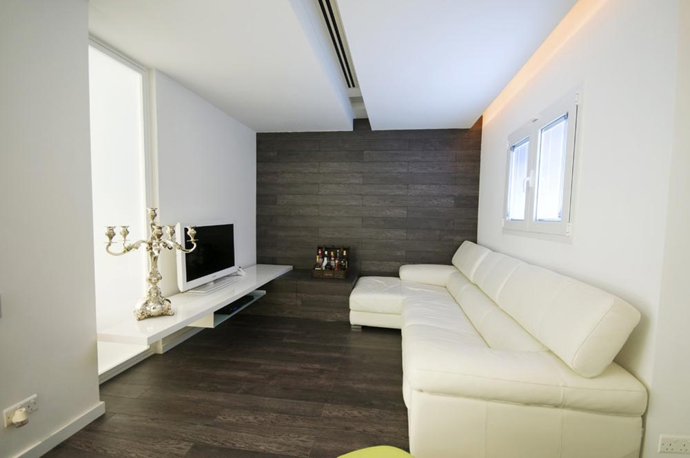 白色雅致极简风格客厅装修设计