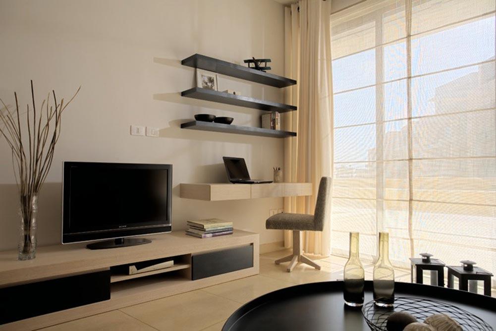 灰色雅致現代簡約風格客廳室內裝修