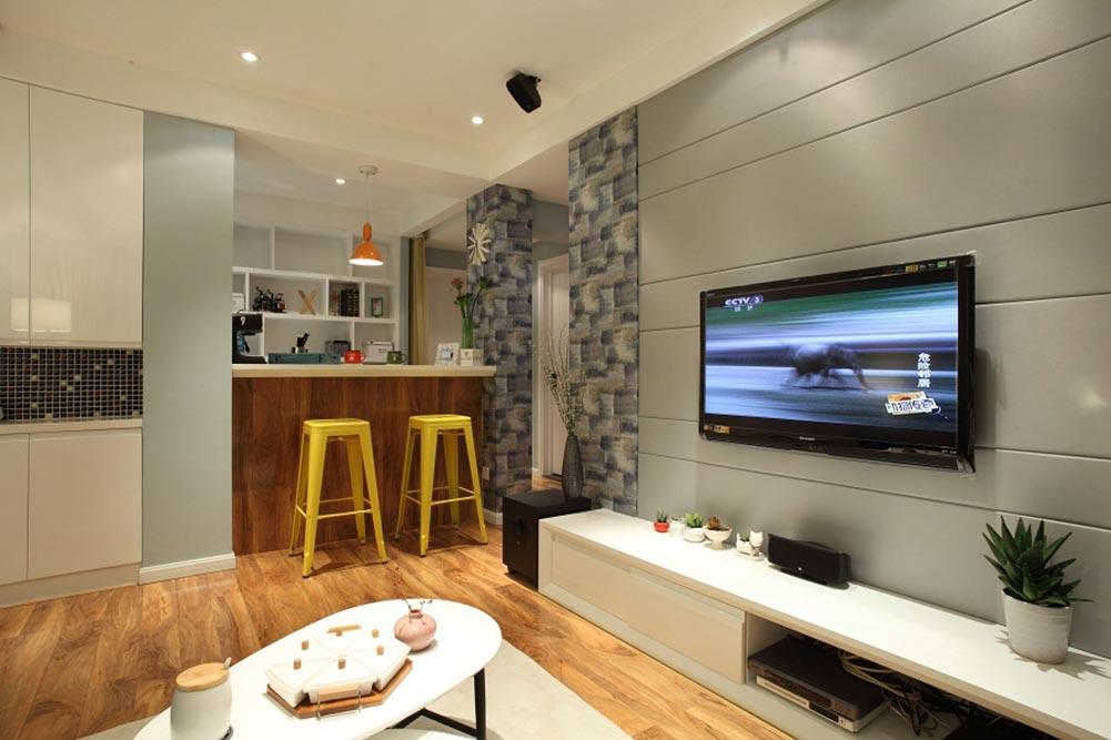 创意个性现代风格客厅装修局部展示