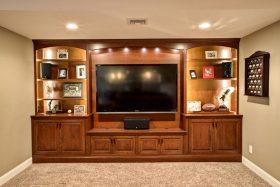 大气美式原木风格电视收纳柜设计展示