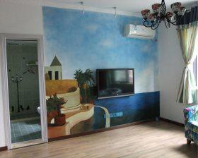 艺术地中海风格电视背景墙装修