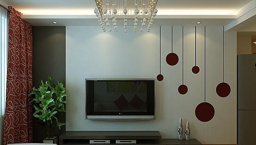 创意简约现代风格电视背景墙装修图片