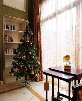 2016美式温馨圣诞树装饰布置欣赏