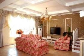 欧式田园客厅装修设计欣赏