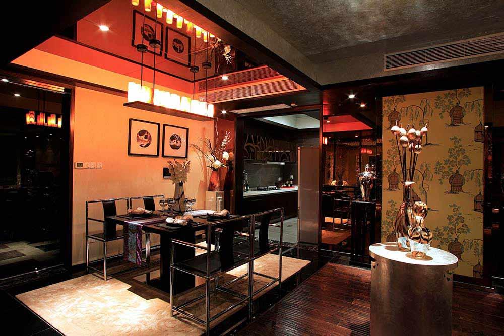 红木中式典雅餐厅装潢装修