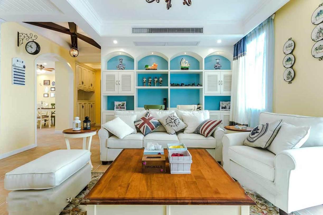 地中海小清新客厅装修效果图片