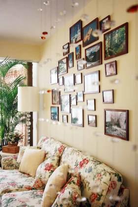 田园客厅装修背景墙设计