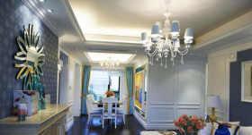 地中海客厅吊顶装饰效果