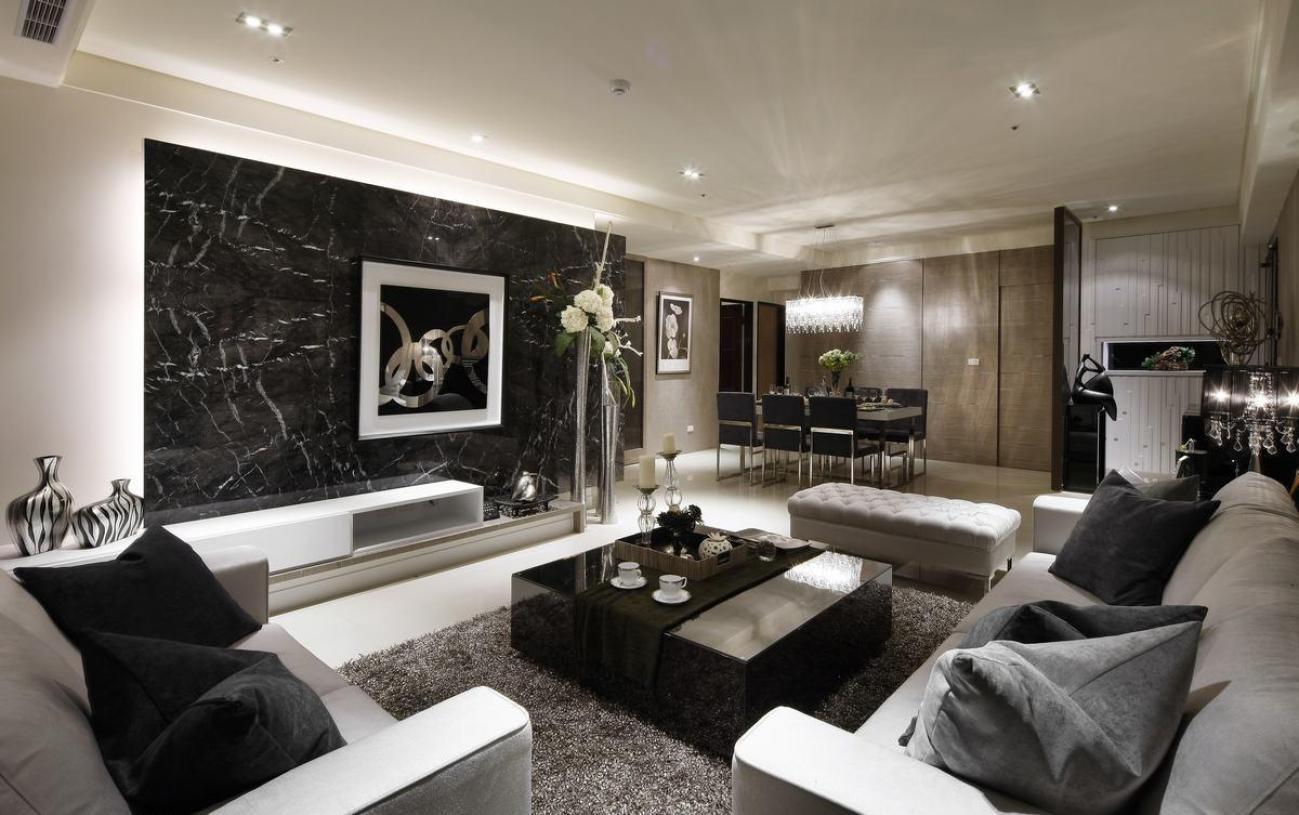 三室现代客厅装修设计装修怎么做 注意事项 齐家网