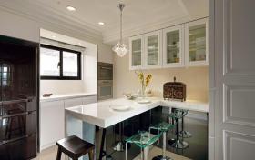 新古典厨房吧台效果图