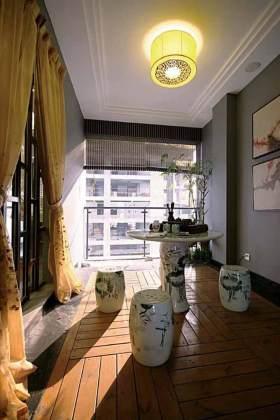 中式阳台装修效果展示