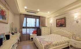 浅紫色系欧式卧室装潢