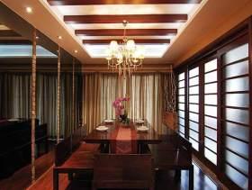 中式明净餐厅装修欣赏