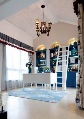 地中海风格书房装修实例