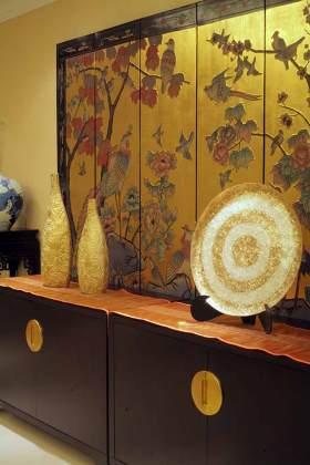 中式精美收纳柜装饰设计