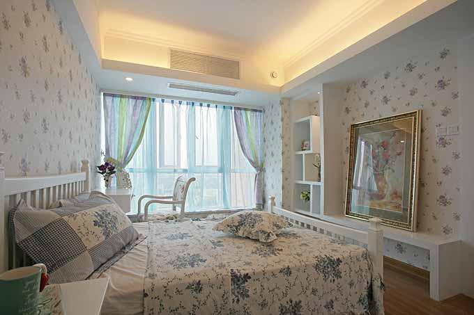 欧式碎花卧室装修设计