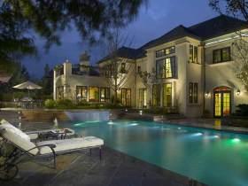 美式豪华别墅泳池设计欣赏