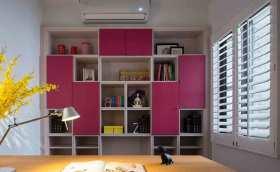 简约粉色系书房别致装修设计