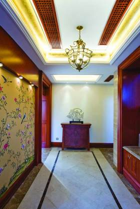 中式人文气息过道装饰设计