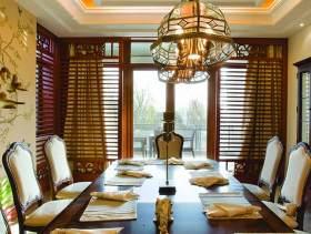 豪华大气中式餐厅设计效果图
