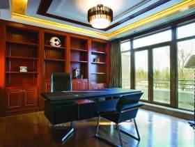 中式现代风格别墅书房装修设计