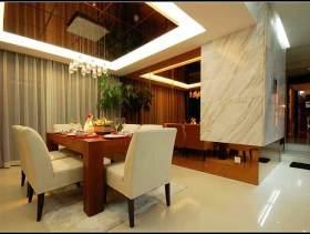 中式风格简化设计餐厅效果图