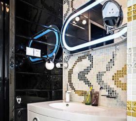 时尚现代字母装饰卫生间效果图欣赏