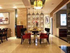 中式风格餐厅整体效果图