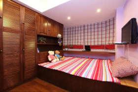 红色田园风儿童房装潢设计案例