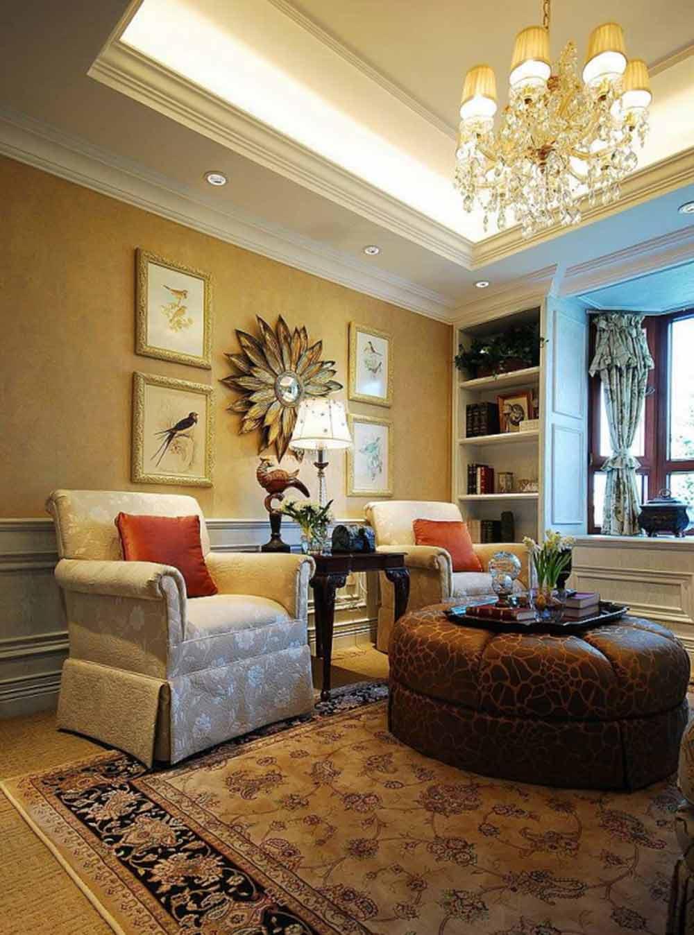 美式风格温馨小客厅设计图片