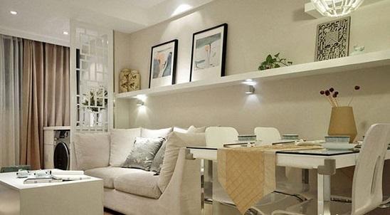 中式简约客厅一体式设计图片