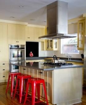 田园风格开放式厨房装修案例