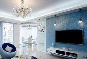 欧式精致背景墙装饰设计